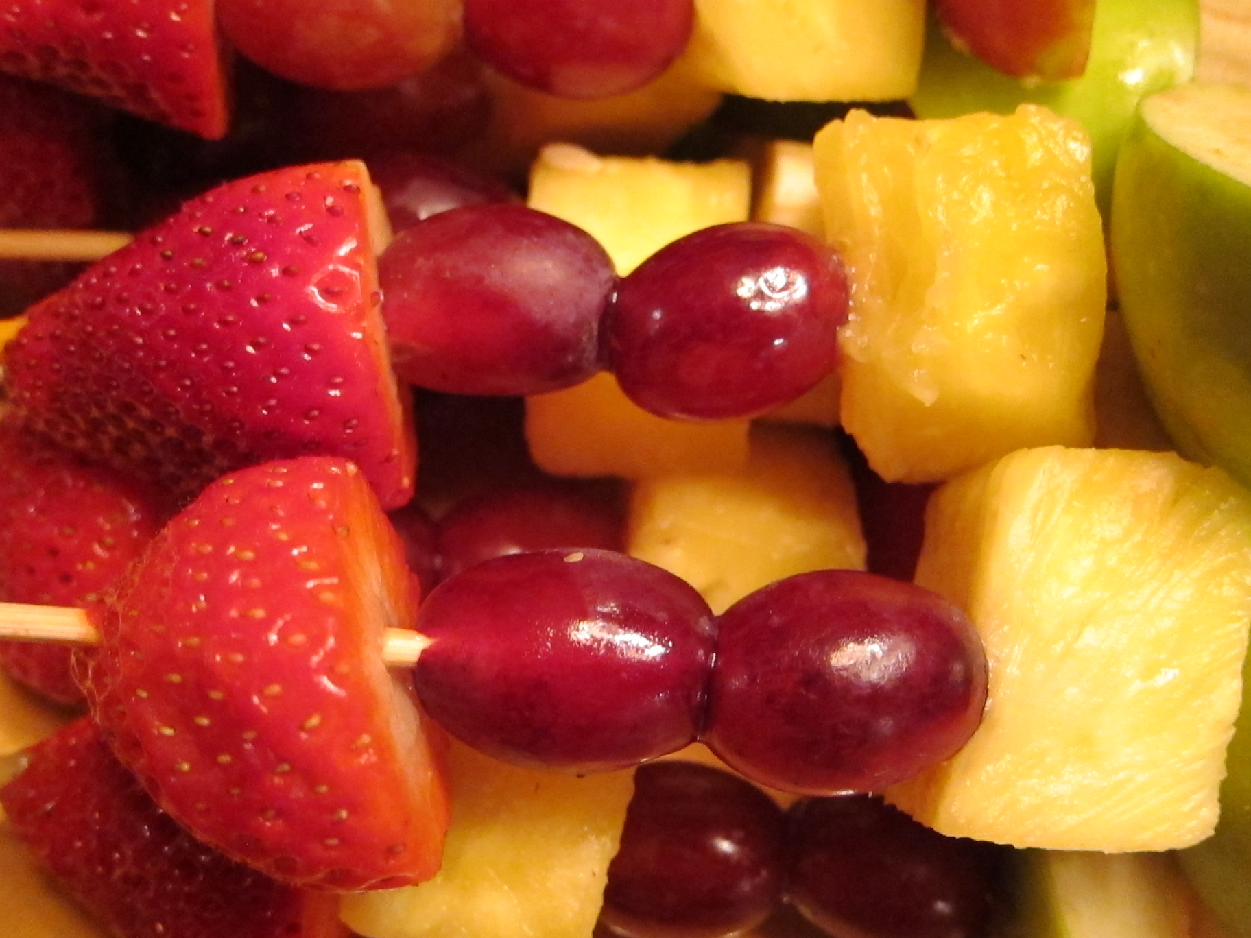 Birthday Fruit Kabobs - Green and Clean Mom ™