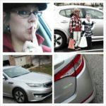 @greenmom loves the #Kia #Hybrid and it is so silent. Nice ride!