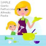 simple and #healthy garlic fettuccine alfredo pasta from @greenmom