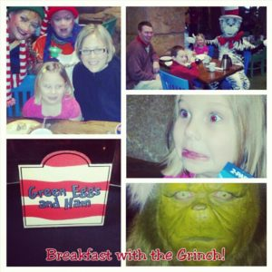 Breakfast with the Grinch Universal Studios Orlando