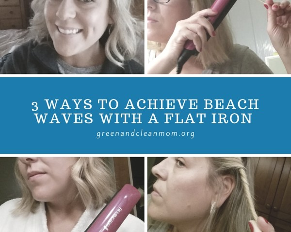 how to create beach waves with a flat iron