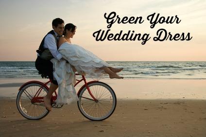 Green Your Wedding Dress #Green #Wedding