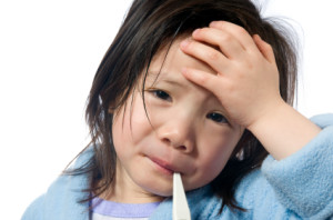Sick Child cold and flu season