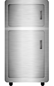 Clean Steel Fridge