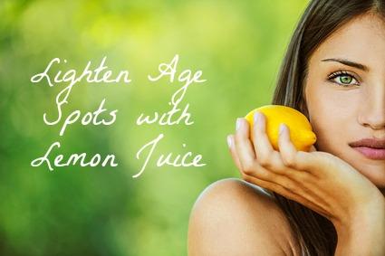 Lemon juice to help lighten age spots. #natural