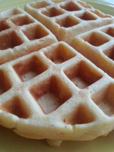 Leftover Sweet Potato Casserole Waffles