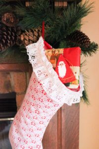 Upcycled Christmas Stockings from Curtains