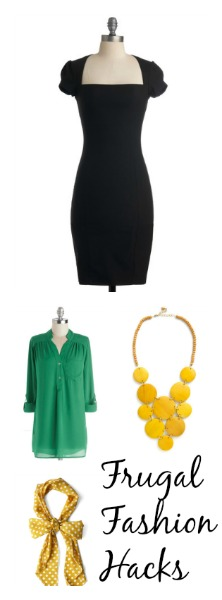Tips on dressing for a budget! A little black dress is a must! #FashionHacks #Frugal #Fashion #Style #littleblackdress