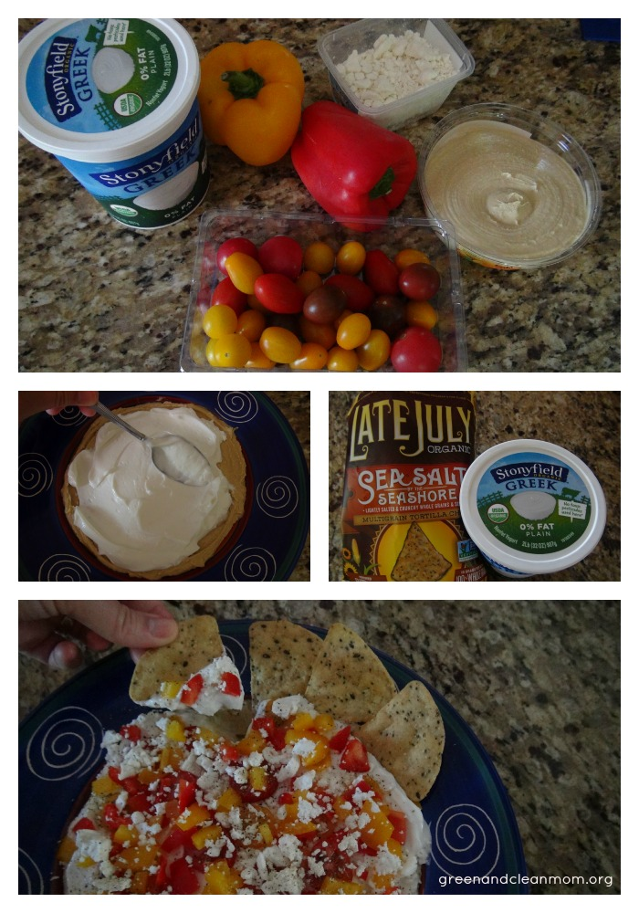 Easy summertime greek yogurt and hummus dip for BBQ's!