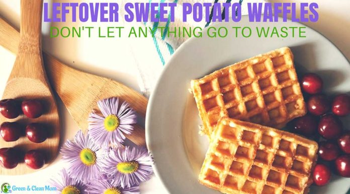 leftover sweet potato waffles
