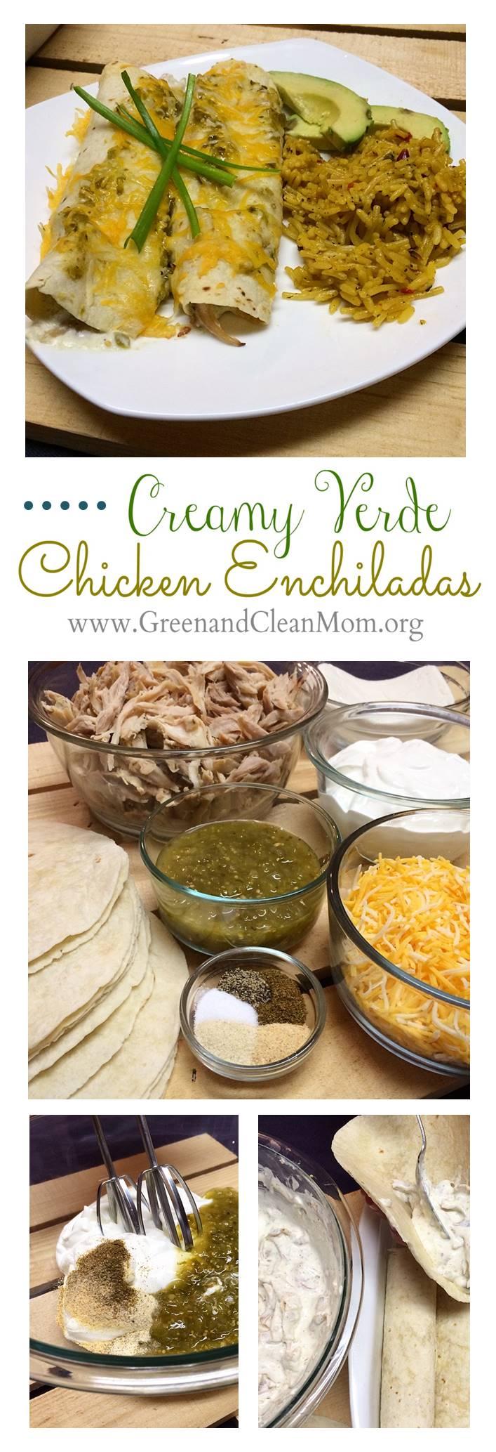 Verde Creamy Chicken Enchiladas