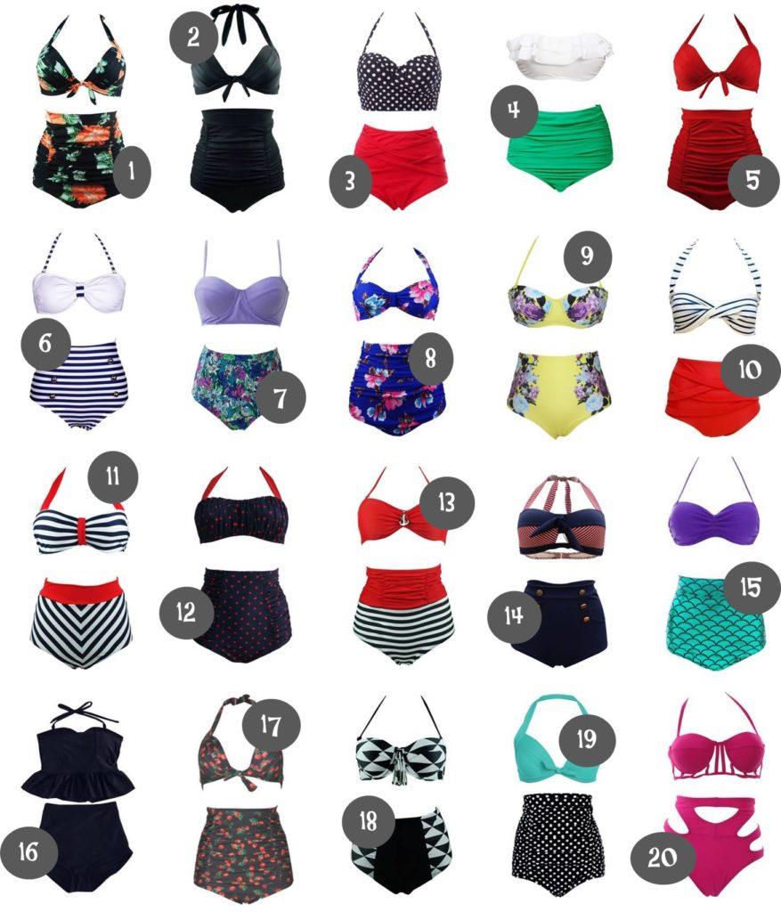 20 High Waisted Bikinis from Amazon Under $25.