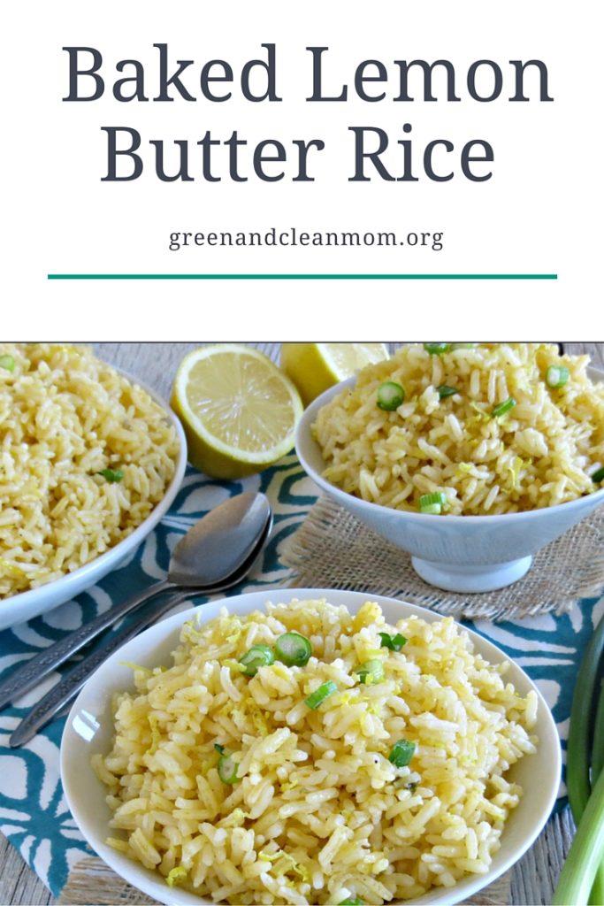 Baked Lemon Butter Rice