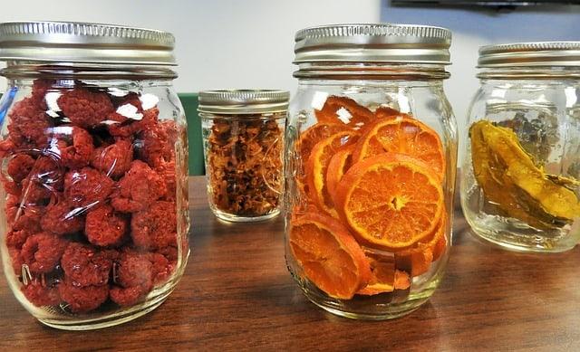 mason jars dried fruit