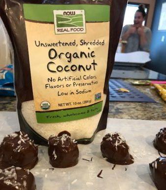 Recipe for Dark Choc. Coconut Balls