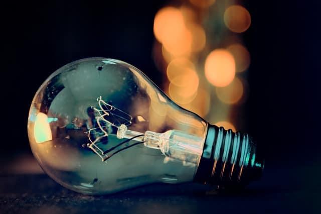 wrap spare light bulbs