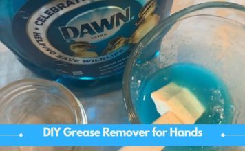 Dawn Dish Soap DIY Grease Remover for Hands and Tools
