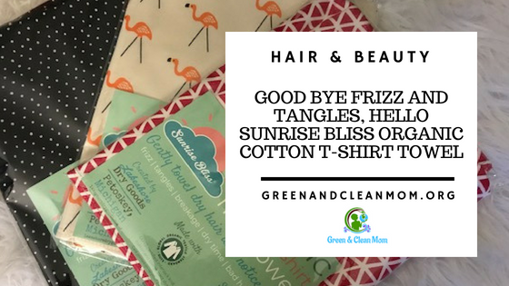 Lakeshore Dry Goods Sunrise Bliss Organic Cotton T-Shirt Towels for Less Frizz and Tangles plus it is Eco-Friendly