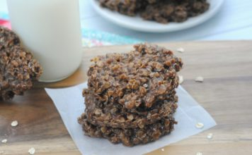 No Bake Cookies with Coconut Oil