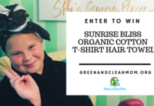 Organic Cotton T-Shirt Hair Towel Review and Giveaway