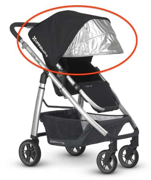uppababy cruz sunshade
